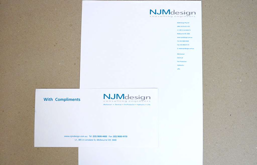 Letterhead with Compliment Slips